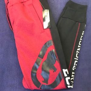 Ecko Unlimited Mens Joggers Red Black NWT